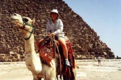 Barbara rides a camel
